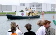 Llegada del barco abortista a Valencia