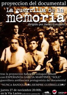 """""""La guerrilla de la memoria"""""""