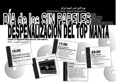 DÍA DE LaS SIN PAPELES Y POR LA DESPENALIZACIÓN DEL TOP-MANTA