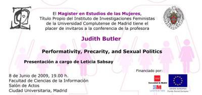 Judith Butler en Madrid