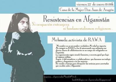 Resistencias en Afganistán, Charla