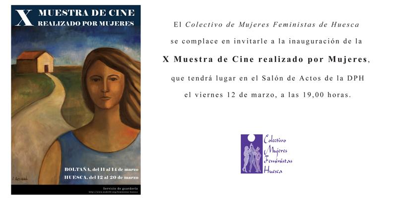 Invitación a la X muestra de cine realizado por mujeres (Huesca)