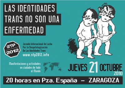 COMUNICADO DE PRENSA de la Red por la Despatologización Trans de Zaragoza