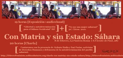 [charla+expo+visual] Con Matria y sin Estado: Sáhara