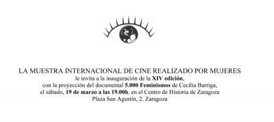 Inauguración Muestra Internacional Cine Realizado por Mujeres