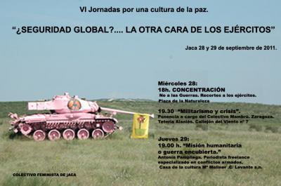 VI Jornadas por una cultura de paz. Jaca (Huesca)