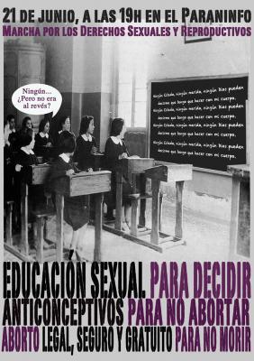 Marcha por los derechos sexuales y reproductivos, Zaragoza.