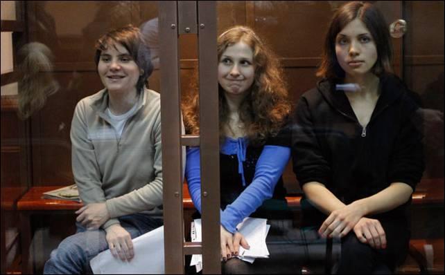 Sale en libertad condicional Yekaterina Samutsévich: Pussy riot