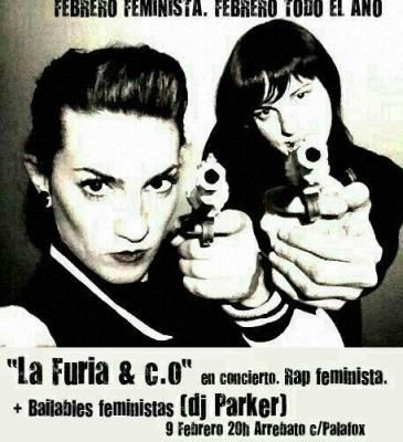 El rap feminista de La Furia. Sábado 9 de febrero en Arrebato