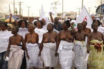 La Historia del desnudo como protesta en África.